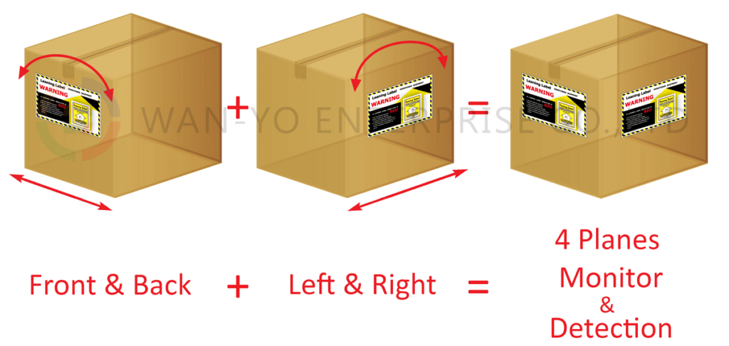 Apply 2 Pieces of Leaning Label Tilt Indicator