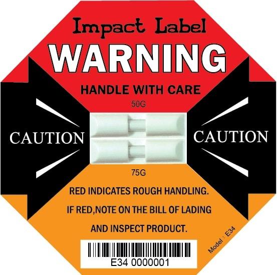 50G+75G Dual Impact Label |【Double Tube Impact Indicators】| WAN-YO