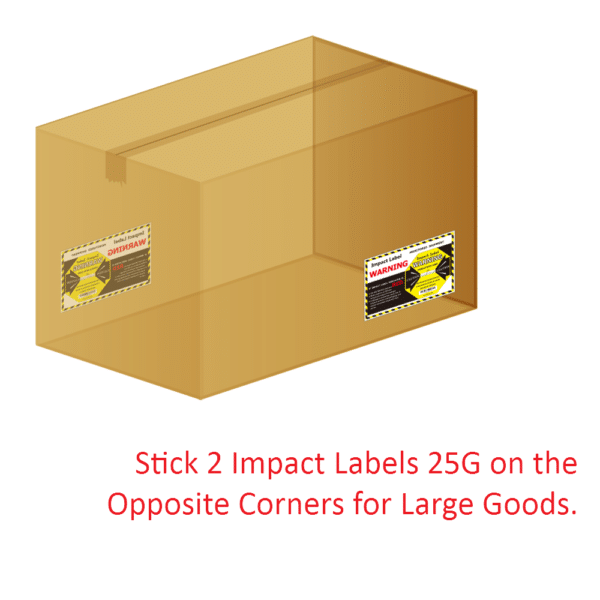 Impact Label 25G  【Impact Indicator Manufacturer】  WAN-YO