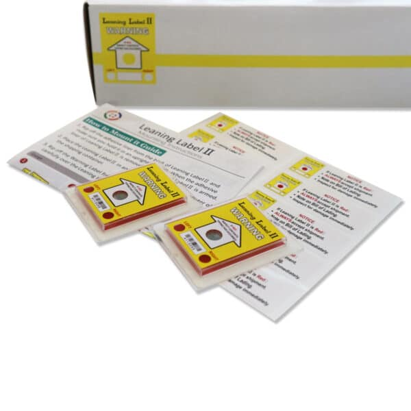 Leaning Label II Tip and Tell Indicator 80PCS/BOX