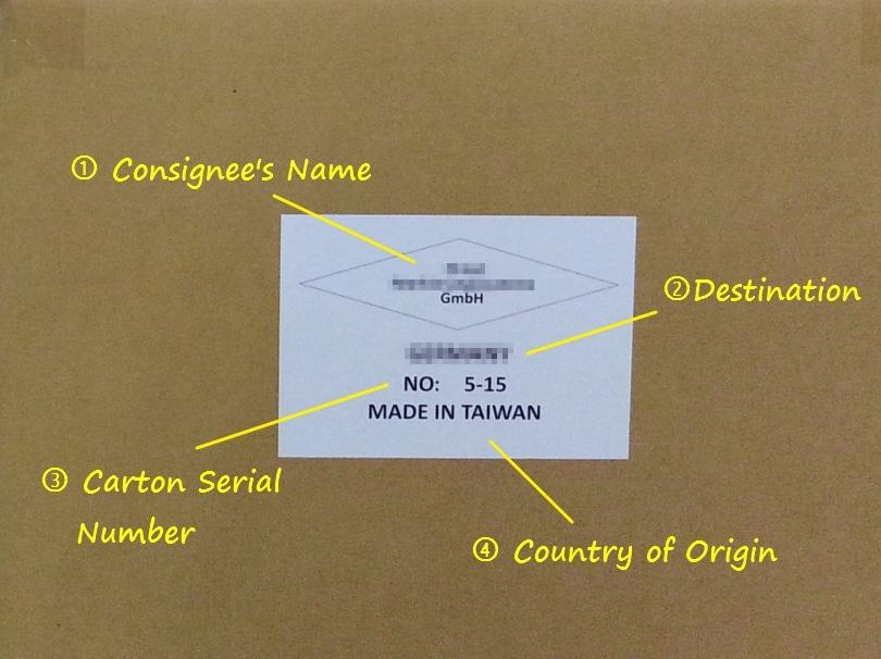 Main Mark Shipping Mark