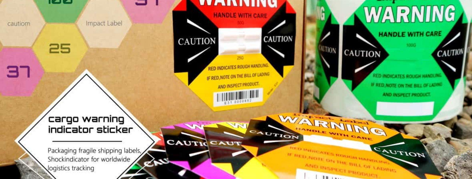 Shock Indicator Impact Label