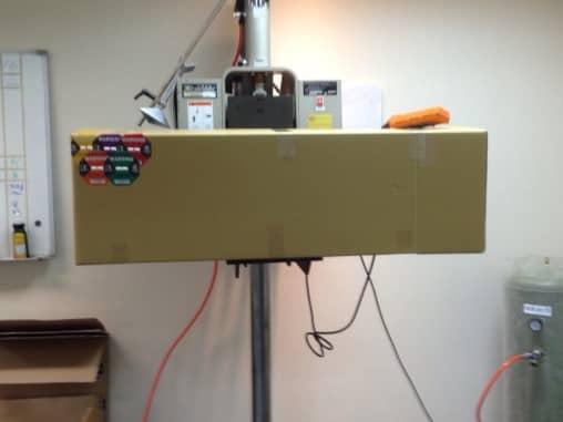 衝擊指示器-模擬產品落下測試實驗