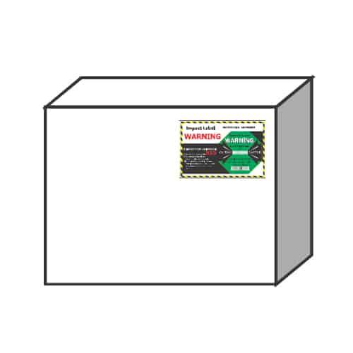 衝擊指示器100G 小型貨物-建議黏貼上方角落