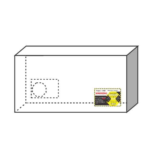 衝擊指示器25G 大型貨物-建議黏貼下方角落