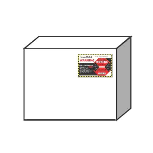 衝擊指示器50G 小型貨物-建議黏貼上方角落