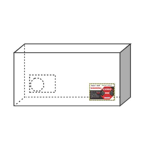 衝擊指示器50G 大型貨物-建議黏貼下方角落
