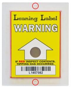 Leaning label 上下可固定