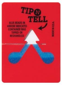 Tip N Tell : 單角度-粉末式傾斜指示器